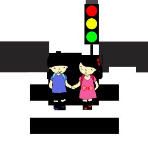 儿童安全教育过马路