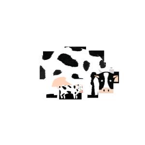 小奶牛与大奶牛免抠图素材