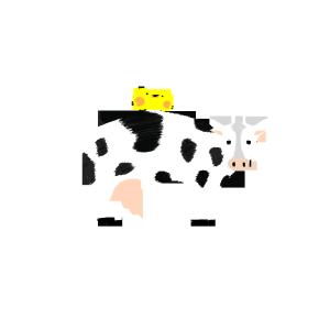 两只小鸟与大奶牛