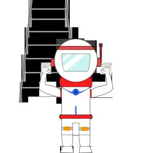 世界航天日之着陆的宇航员