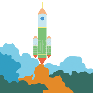 发射的神舟火箭矢量图