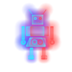 半透明渐变叠加透气机器人