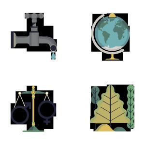 保护生态与地球环保矢量免抠图
