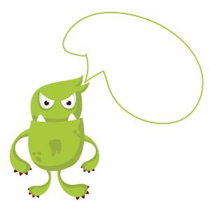 绿色霸气小怪物装饰对话框