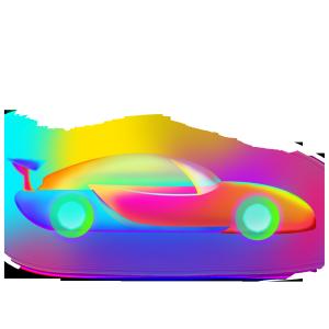 光感透气叠加半透明车子