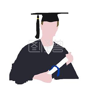 毕业学生免抠矢量图