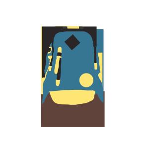 旅行背包免抠矢量图