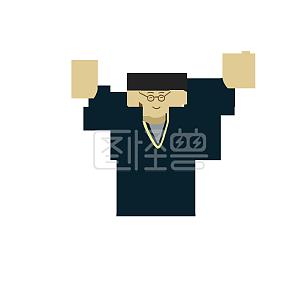 小清新毕业的人矢量图