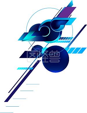 购物节蓝紫色科技风边框背景线条电商酷炫
