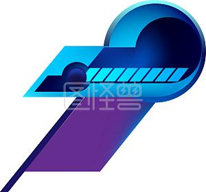 购物节蓝紫色科技风边框背景线条电商免抠PSD