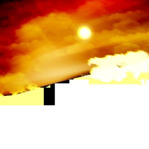 PS制作傍晚夕阳背景