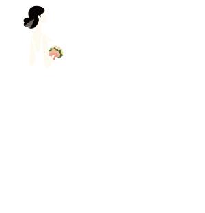 白色婚纱新娘矢量免抠图