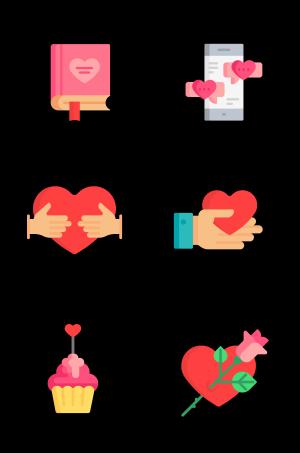 爱情520节日相关图标