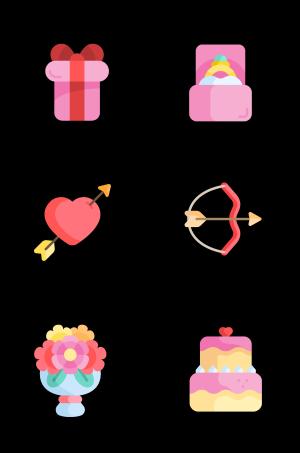 520节日爱情图标