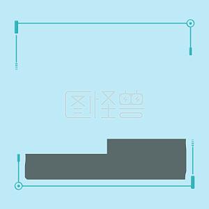 蓝绿色渐变科技风边框背景线条电商酷炫科技网络