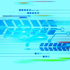 平面设计蓝色科技元素