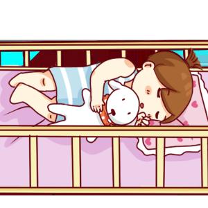 手绘卡通睡觉的宝宝