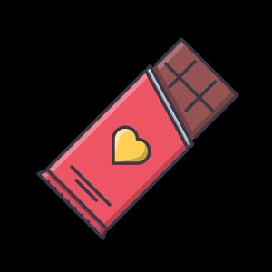 巧克力扁平化免扣素材