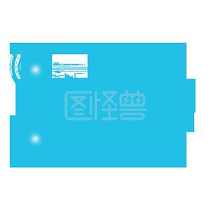 蓝色科技控制电路图元素