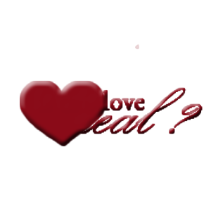 大红色写着英文的大爱心图片