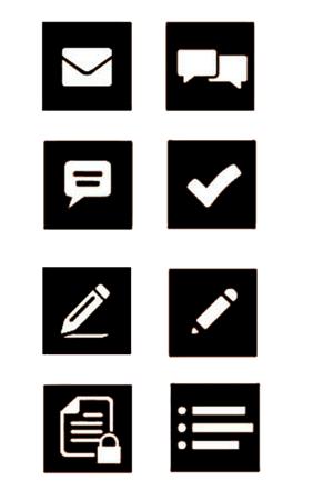 黑白办公图标素材