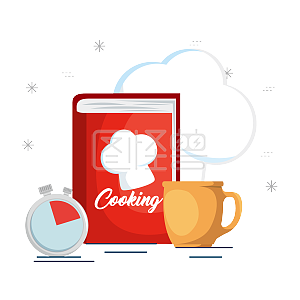 PPT厨房装备必备图案