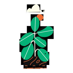 简约北欧风格盆栽招财树矢量免扣