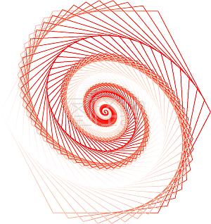 红色线条图案元素