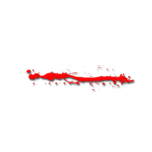 血迹斑驳的红色线条