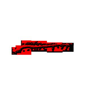 红色斑驳水墨血痕