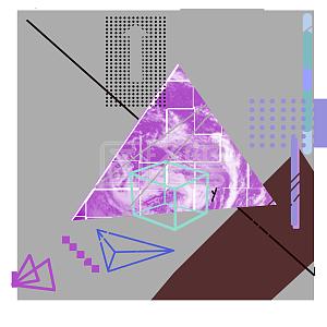 电商购物节紫色科技风边框背景线条