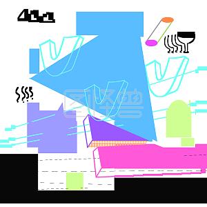 电商购物节酷炫科技风边框背景线条