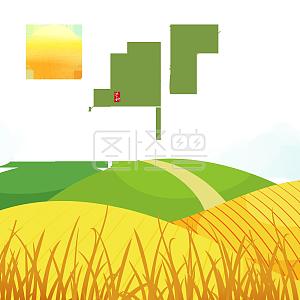 芒种二十四节气绿色山坡