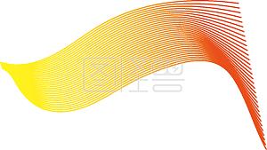 几何曲线唯美彩色图案元素