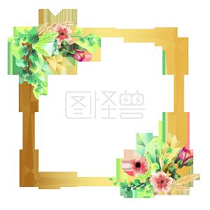 花朵边框png素材