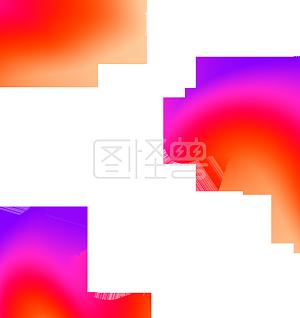 彩色不规则图形流体渐变图形