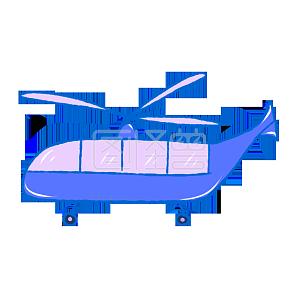 手绘儿童节玩具飞机