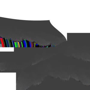 山峰黑白山水画素材