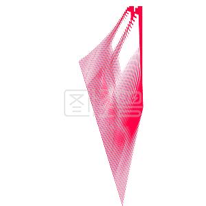 水彩红色不规则图案