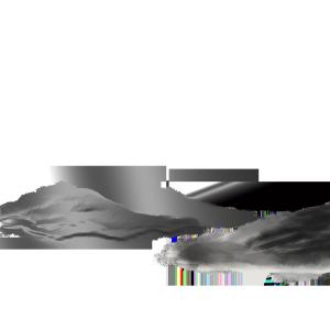 手绘黑白画山峰元素
