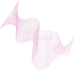 唯美动感曲线元素