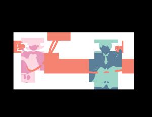 亲吻情人节情侣拿着爱心PNG图片