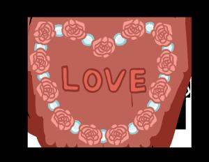 亲吻情人节玫瑰爱心花圈PNG图片