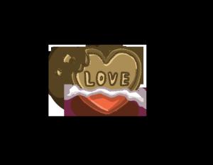 亲吻情人节爱心巧克力PNG图片
