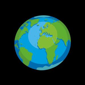 蓝色系手绘世界环境日保护地球