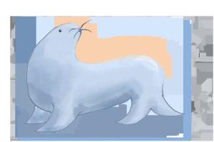 世界海洋日手绘海豹png