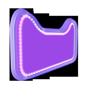 电商c4d紫色天猫背景板