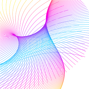 抽象创意彩色渐变线条图案元素