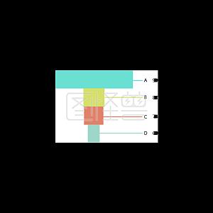 扁平化彩色漏斗统计图