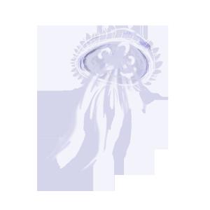 海洋生物蓝色水母设计图
